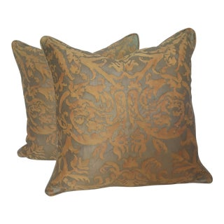 Italian Fortuny Pillows - A Pair