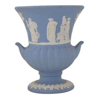 Wedgwood Jasperware Blue & White Urn Vase