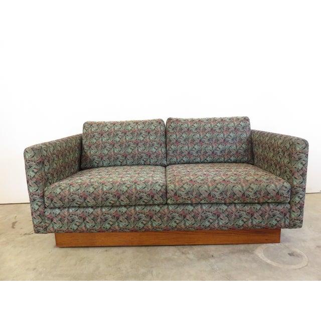 Mid-Century Milo Baughman Style Loveseat Sofa - Image 3 of 8