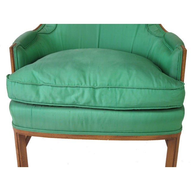 Mid-Century Emerald Highback Lounge Chair - Image 5 of 6
