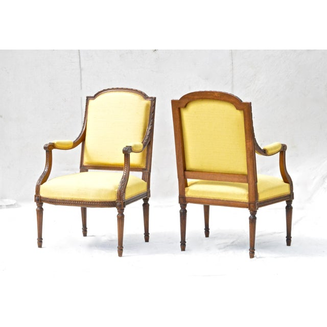 Louis XVI Fruitwood & Yellow Bergeres - A Pair - Image 3 of 10