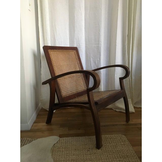 Mid-Century Teak Cane Chair - Image 2 of 5