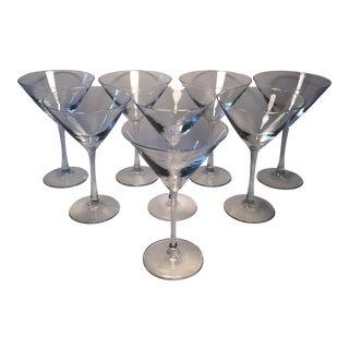 Vintage Crystal Martini Glasses - Set of 8
