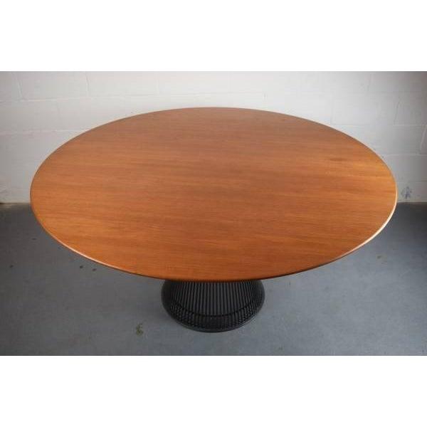 Warren Platner for Knoll Bronze and Teak Table - Image 4 of 8