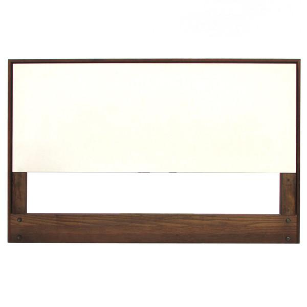Image of Knoll White Laminate Twin Headboards - Pair