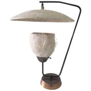 Compressed Fiberglass & Brass Table Lamp
