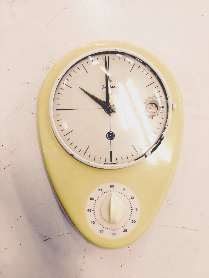 Mid Century German Retro Kitchen Timer Wall Clock   Image 2 Of 5