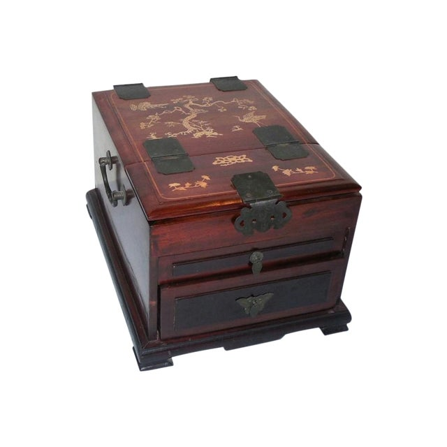 Chinese Rosewood Dressing Box With Bone Inlay - Image 1 of 10
