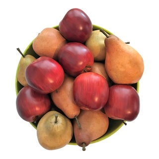 Artificial Red Apples & Green Pears - Set of 28