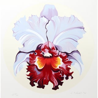 "Lowell B. Nesbitt ""Yellow & Blue Iris"" Serigraph"