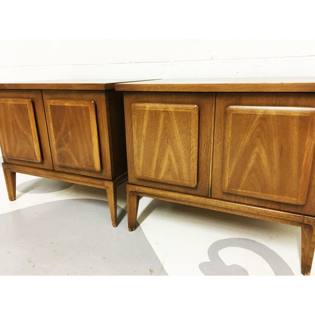 Broyhil Mid-Century Walnut End Tables - A Pair - Image 7 of 7