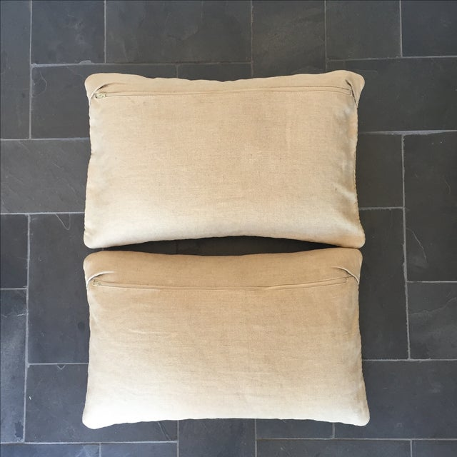 Image of Williams Sonoma Woven Linen Pillow Covers - A Pair
