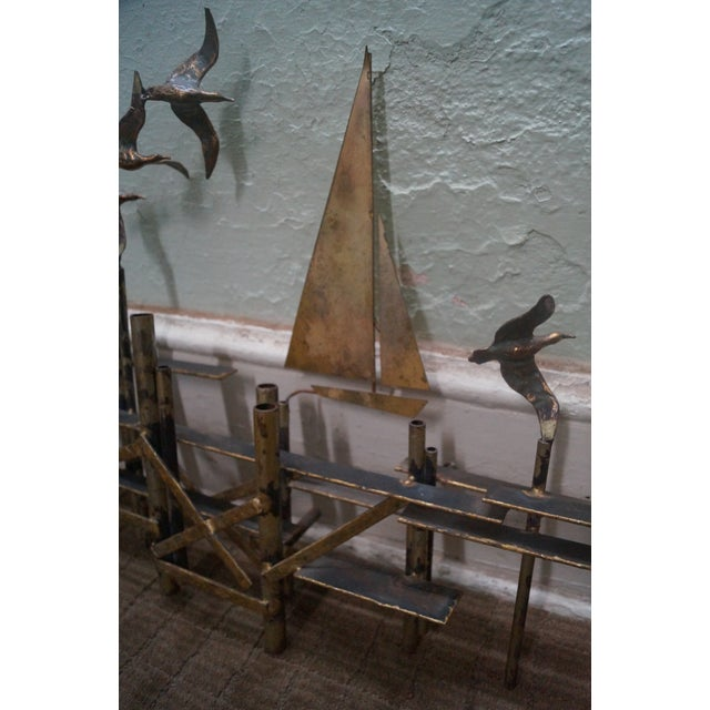Image of C. Jere Mid-Century Nautical Metal Wall Sculpture