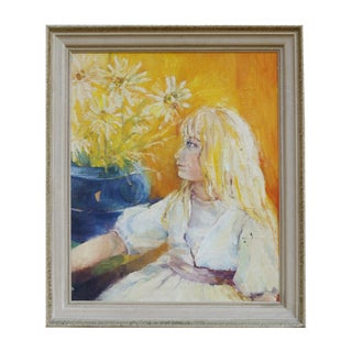Blonde Girl Portrait Painting