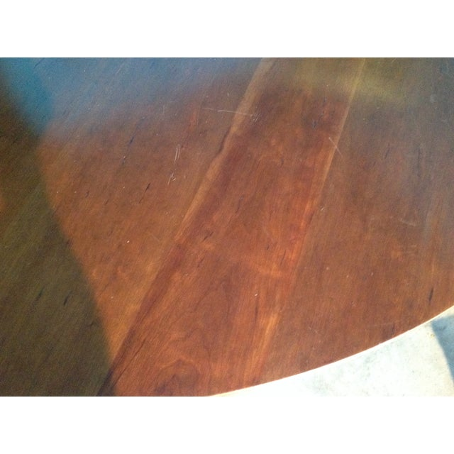 Antique Cherry Round Table - Image 6 of 6