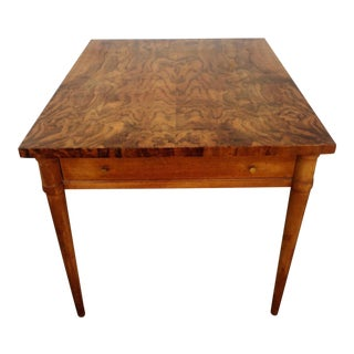 Mid-Century Circassian Walnut End Table