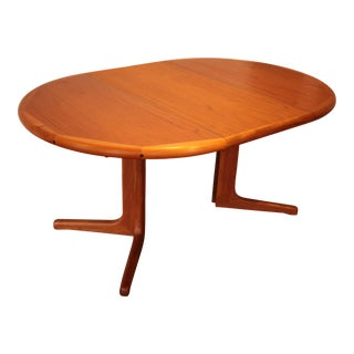 Solid Teak Round to Oval Dining Table