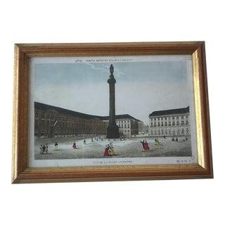 19th Century Paris Place Vendome Chromolithograph