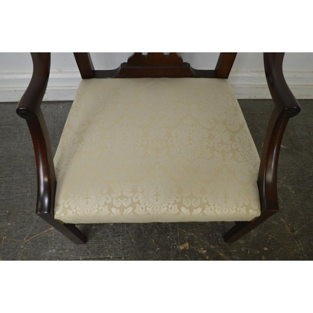 Baker Vintage Set of 6 Solid Mahogany Chippendale Style Dining Chairs - Image 7 of 10