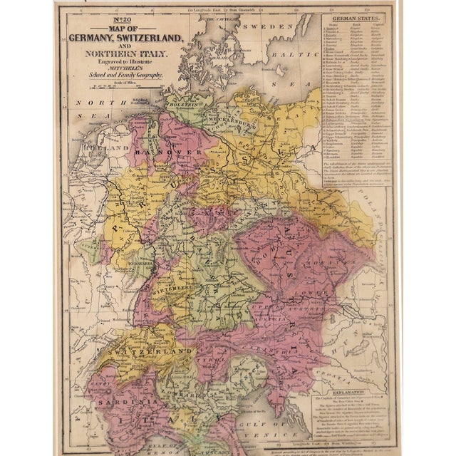 Antique Map of Northern Europe - Image 3 of 3