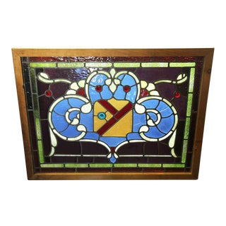 Salvaged Stained Glass Window