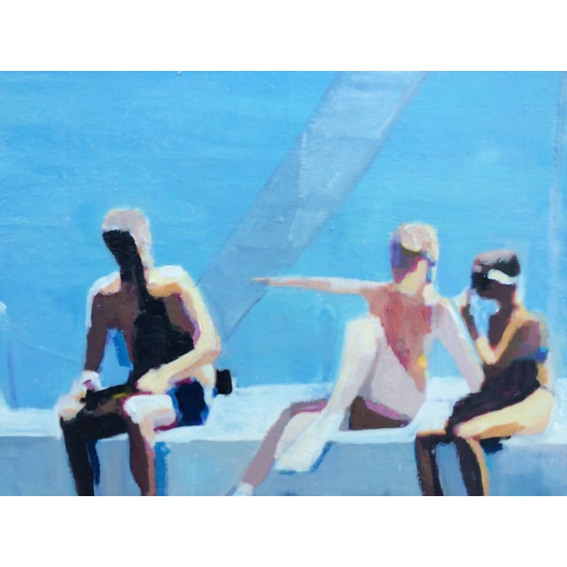 Image of Lisa Golightly Diving Platform Painting