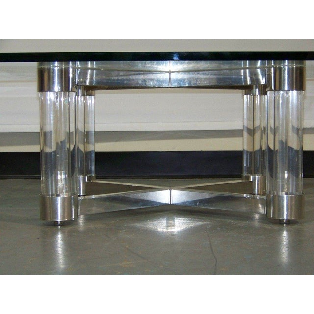 Lucite & Chrome Coffee Table - Image 3 of 5