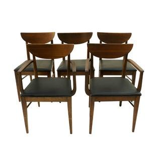 Mid Century Modern Bassett Dining Chairs - S/5