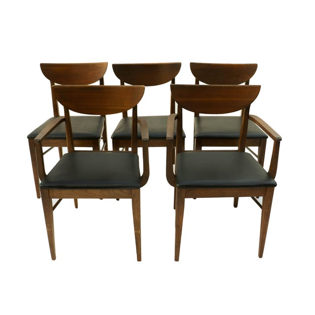 Mid Century Modern Bassett Dining Chairs - S/5 - Image 1 of 10