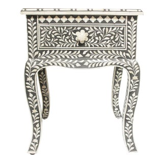 Gray Inlay Side Table