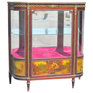 Louis XVI Style Vernis Martin Style Display Cabinet