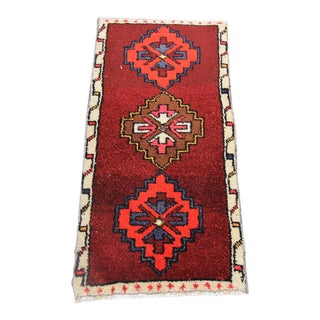 "Vintage Turkish Oushak Tribal Rug- 1'5"" x 3'2"""