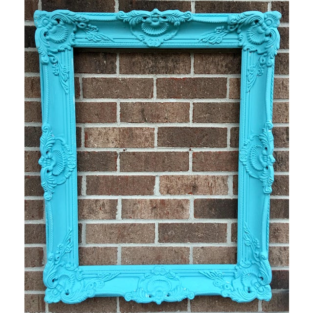 Antique Tiffany Blue Plaster Picture Frame - Image 2 of 10