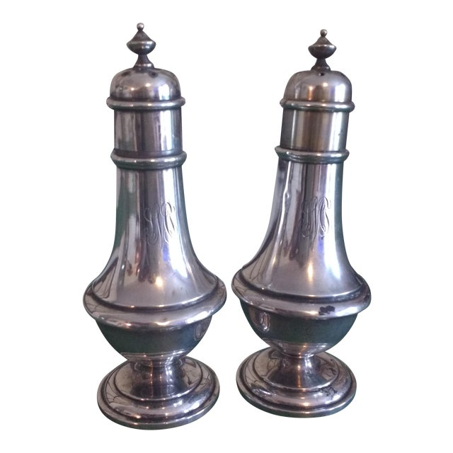 Image of Sterling Salt & Pepper - A Pair
