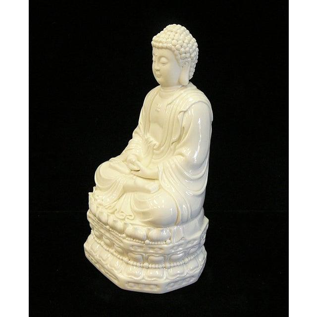 Chinese White Porcelain Buddha on Base Statue - Image 5 of 7