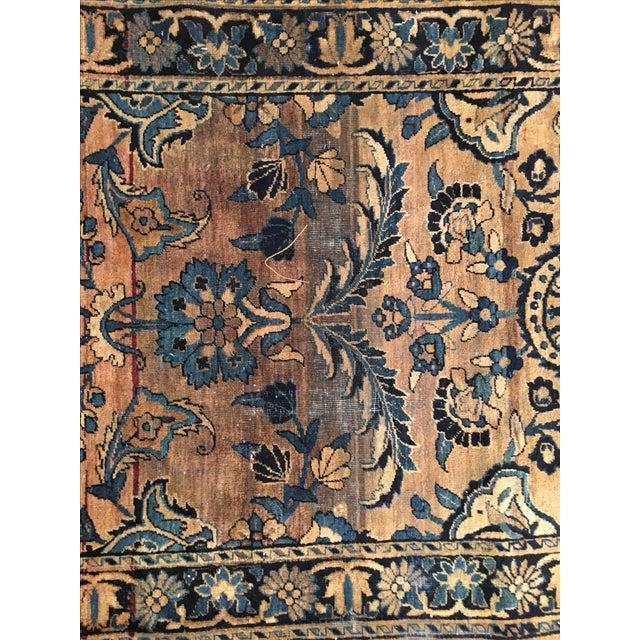 Keshan Persian Rug Fragment - 2′8″ × 4′5″ - Image 4 of 7