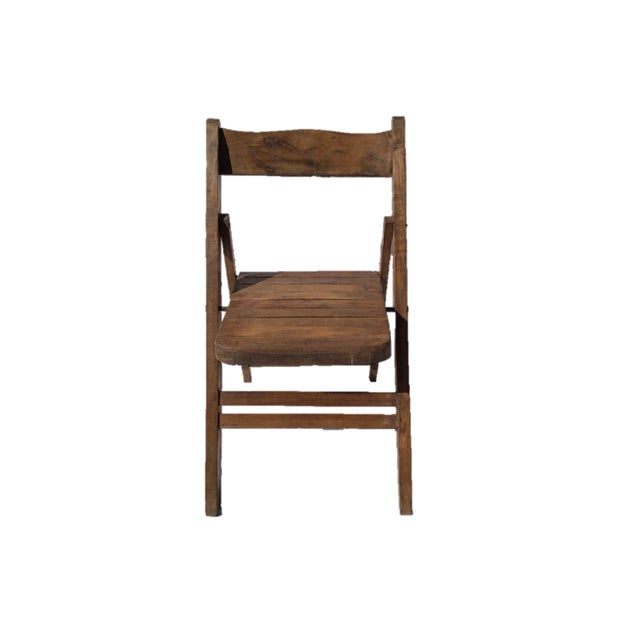 Vintage Wooden Folding Chair - Image 2 of 4