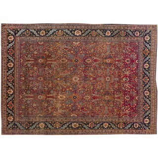 "Vintage Hand-Knotted Persian Rug - 9'2"" X 12'6"""