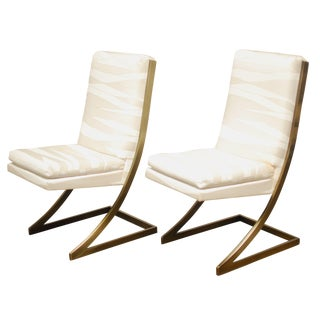 Milo Baughman Cantilevered Z Chairs - A Pair