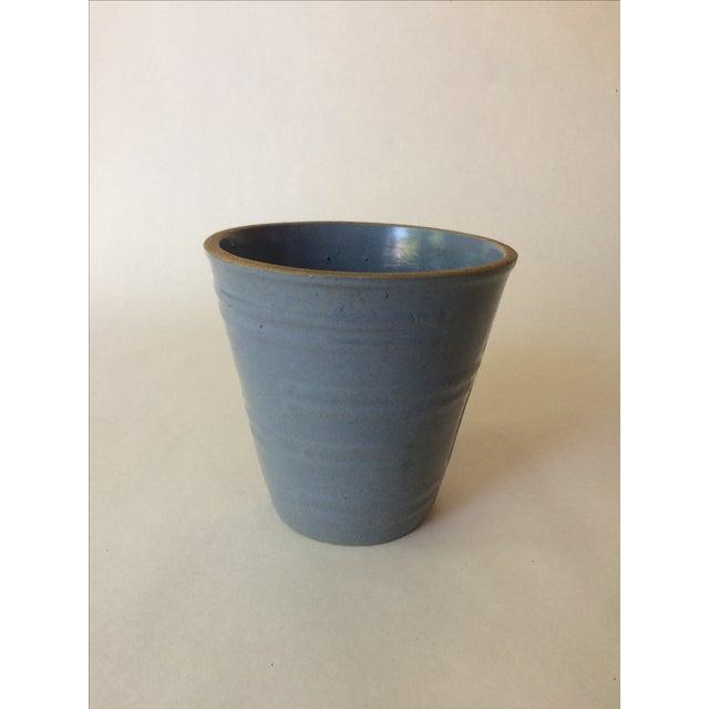 Machine Age Blue-Grey Flower Pot - Image 2 of 11