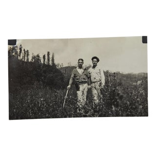 "1930's ""Photographers Hiking in the Great Outdoors With Kodak Camera"" Photo"