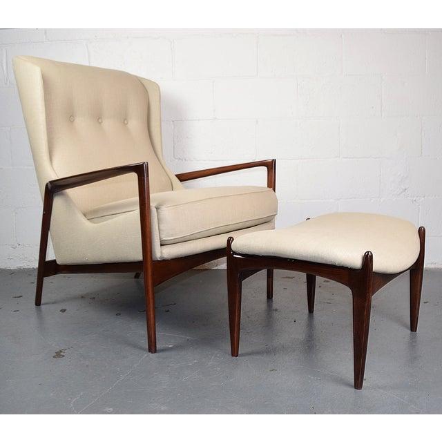 Kofod-Larsen Mid Century Lounge Chair & Ottoman - Image 2 of 6