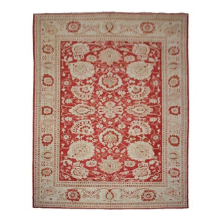 "Aara Rugs Inc. Hand Knotted Oushak Rug - 11'4"" X 12'5"""