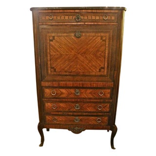 Louis XV/XVI Transitional Marquetry Secretaire