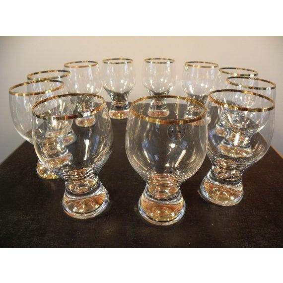 Vintage Bohemian Pedestal Glasses - Set of 11 - Image 2 of 5