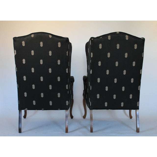 Vintage Wingback Chairs - A Pair - Image 4 of 11