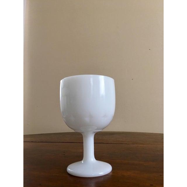 Atomic Starburst Milk Glass Goblets - Set of 6 - Image 3 of 5