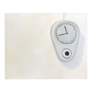 "2009 ""Vintage Clock in Greece"" Oil Painting"