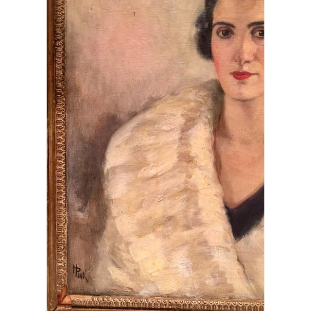 Early 20th Century Original Oil Painting Female Portrait -Framed & Signed By, H. Pink - Image 5 of 10