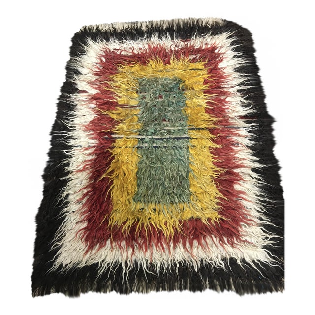 "Bellwether Rugs Vintage Turkish Toloo Kilim Rug - 3'2"" x 4'10 - Image 1 of 6"